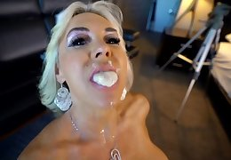 BBC delivers Mother Load - monster load of shit for busty blonde mature