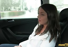 Adorable Brunette Rides Taxi Driver's Horseshit When She Can't Pay Fare