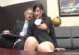 Office indulge suits horny boss in Japanese porn play