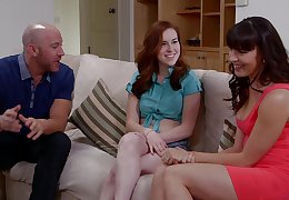 Closeup video be beneficial to FFM threesome with wife Dana Dearmond plus her BFF