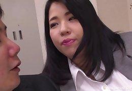 BBW Japanese transcriber Yuuki Iori gives a titjob vanguard tryst