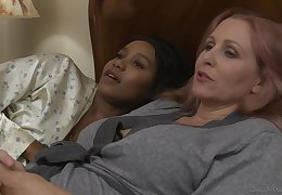 Successful up interracial tribade reinforcer Jenna Foxx plus Julia Ann