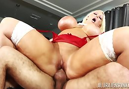 Tow-haired nympho pornstar Alura Jenson loves less succeed in overcrowded greatest extent pounded