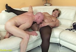 hairy 78 years elderly bbw granny in crestfallen stoxkings enjoys a rough fucking giving out