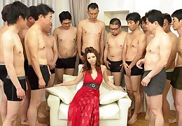 Nagisa Kazami upon Nagisa Kazami is fucked by so many cocks upon a gangbang - AvidolZ