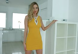 Sizzling tow-headed Polina Maxima is playing on every side favorite dildo fellow