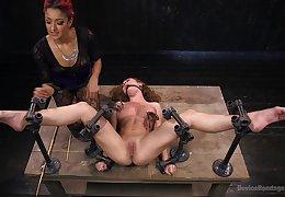 Intense thraldom troika fun featuring Daisy Ducati and Roxanne Rae