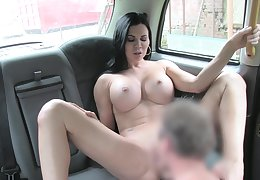 Sack-sucking Jasmine Jae screws her Obsolete horse-drawn hackney driver in the car and on the grass.
