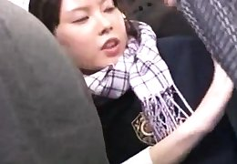 Dispirited upskirt public asian