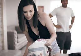Slutty wife Casey Calvert is headman on her husband with his bother