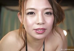 Video be incumbent on busty Oda Mako whacking big a titjob back her horny husband