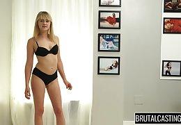 Alexa Behoove beside BrutalCastings - lizzie bell