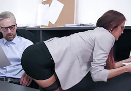 Anal threesome at chum around with annoy office
