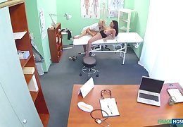 Nympho Nurse Gives Breast Exam